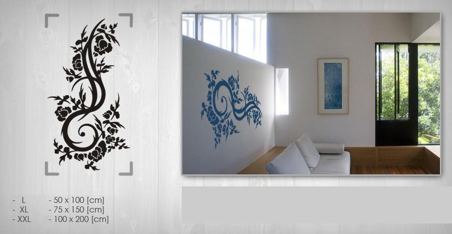 Nálepka na stenu KVETY NAK074 (samolepky na stenu)