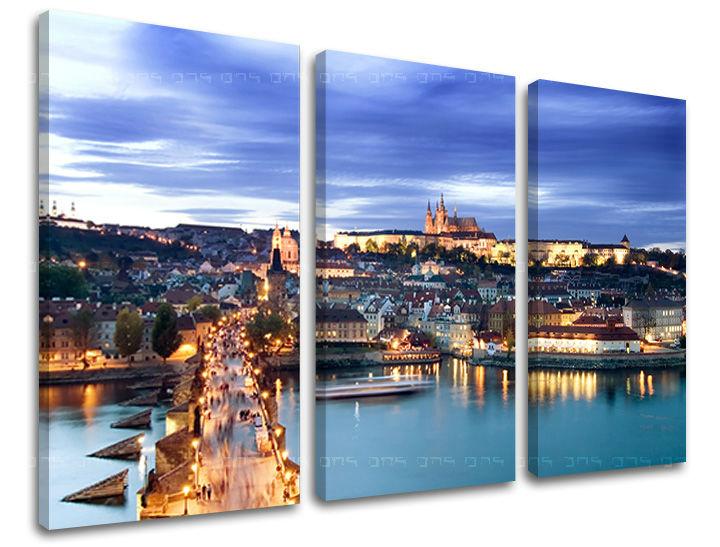 Obraz na stenu 3 dielny PRAHA CZ006E30 (obraz na plátne)