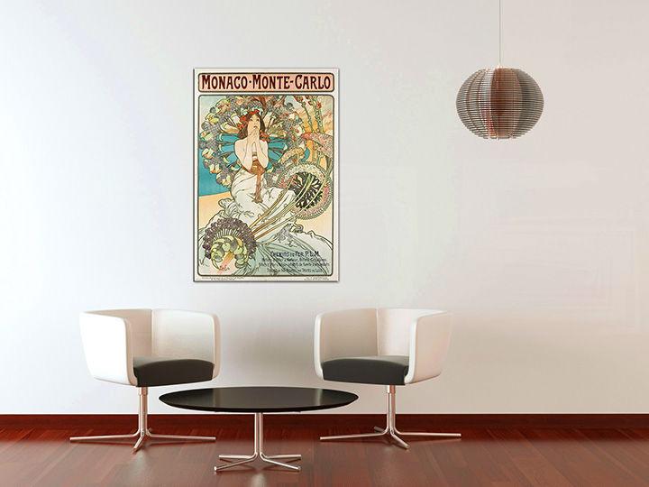 Obraz na plátne MONACO MONTE CARLO – Alfons Mucha REP220 (reprodukcia 70x50 cm)