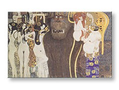 Obraz na plátne THE BEETHOVEN FRIEZE – Gustav Klimt REP038