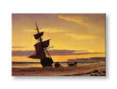 Obraz na plátne COASTAL SCENE – William Bradford REP020