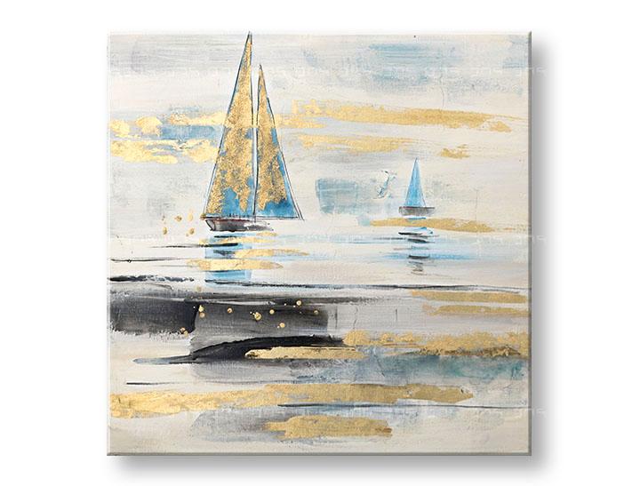 Maľovaný obraz na stenu LODE 1 dielny YOBCWFBC039 - 80x80 cm (maľované obrazy)